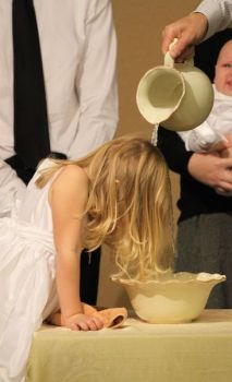 Baptism of a young child.