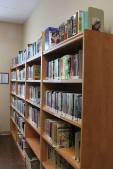 Check out the fabulous library on the main floor.